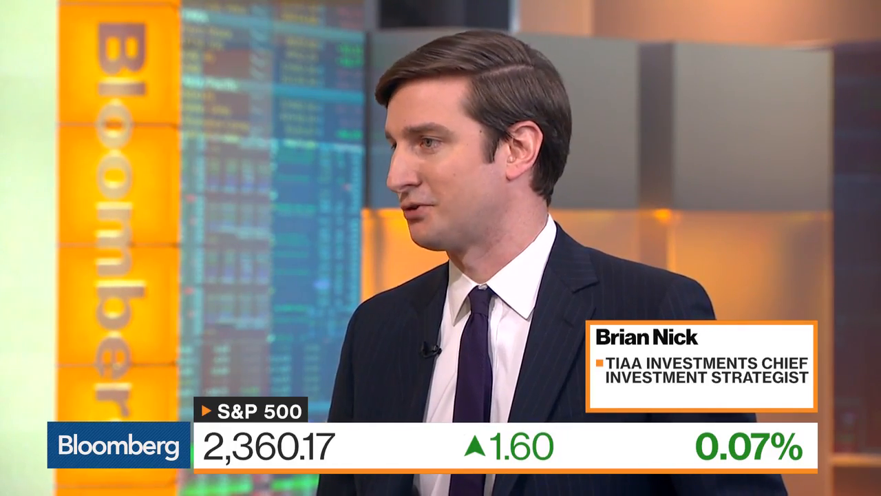 TIAA's Nick Sees Small S&P 500 Move In 2,400 Target